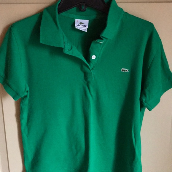 Lacoste Tops - Green Lacoste Polo
